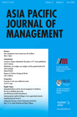 Asia Pacific Journal of Management Books