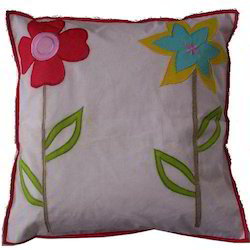 Patch & Embroidery Cushion Cover