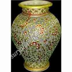 Marble Painting Vases With Stone