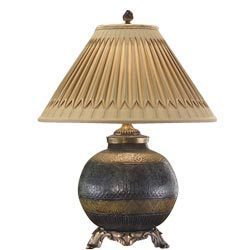 Brass Embossed Lamp