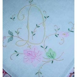 embroidered cotton handkerchief
