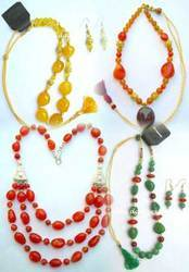 Gemstone Nugget Beads Necklace