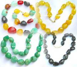Gemstone Faceted Necklaces