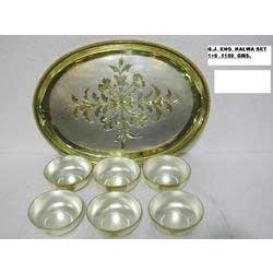 Flower Printing Silver Dry Fruit Set