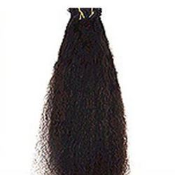Remy Single Drawn Curly Machine Weft Hair