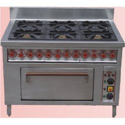 Six Burner Cooking Range With Oven
