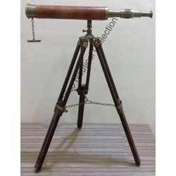 Brass Telescope with Tripod Stand