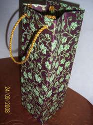 All Over Floral Print Wine Bottle Bag