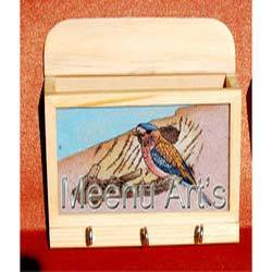 Wooden Letter Holder Key Rack