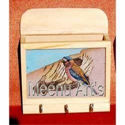 Wooden Letter Holder Key Rack