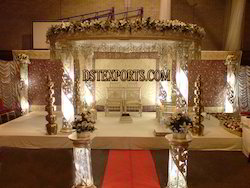 Latest Fiber Crystal Mandap