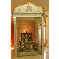designing of pooja room glass door designs in chennai tamilnadu india