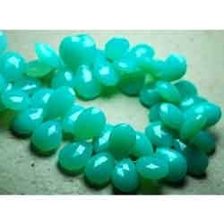 Turquoise Chalcedony Faceted Pear