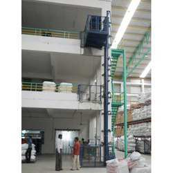 Hydraulic Goods Lift Only Platform With Railings