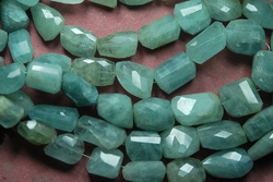 Aquamarine Faceted Oval Nuggetes Briolettes