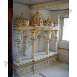 Marble temples carved mandir exporter from udaipur for Home mandir designs marble