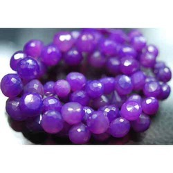 Mystic Puple Chalcedony Faceted Onion Briolettes