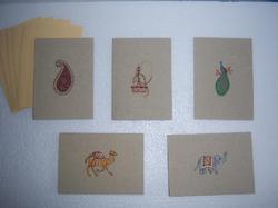 Indian Design Printed Greeting Cards