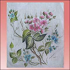 Curtain Painting Design