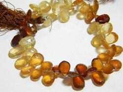 Hessonite+Garnet+Faceted+Pear+Briolettes