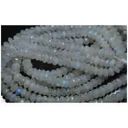 Finest Large Rainbow Moonstone Micro Faceted Rondelle