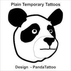 Plain Panda Tattoo