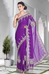 Cut Daana Work Sarees
