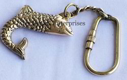 Nautical Fish Key Ring
