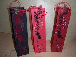 Wine Theme Print Wine Bottle Bags