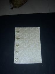 Metallic Emboss Handmade Paper With Butterfly Embellishment