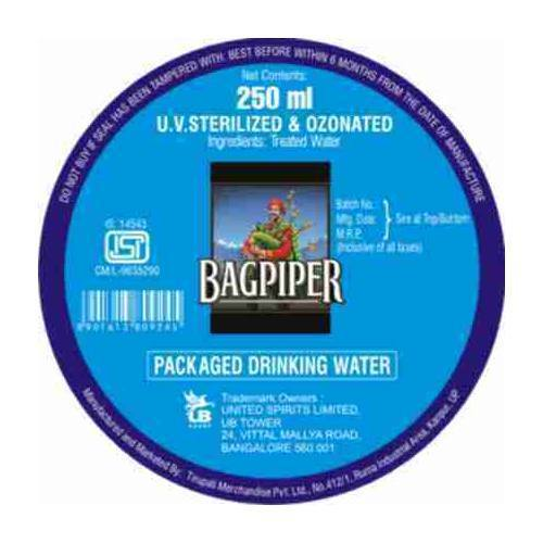 Packaged Drinking Water for Bagpiper