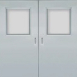 stainless steel hospital doors