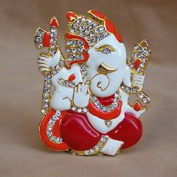 Diamond Ekadant Side Face Ganesh