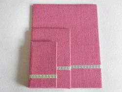 Jute Fabric Covered Notepads In Various Colors