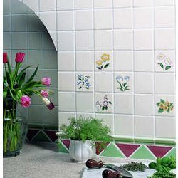 Decorative Wall Tiles - Floral Wall Tiles Exporter from Morbi on floral ceramic tile murals, black and white wall designs, glass wall tile designs, ceramics porcelain tile designs, dolphins pool tile designs, porcelain floor tile designs, 3d wall designs, kitchen ceramic wall tile designs,
