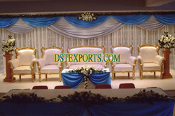 Asian Wedding Silver Sofa Set