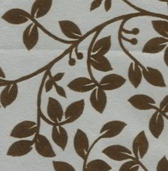Floral Design Flock Printed Handmade Papers
