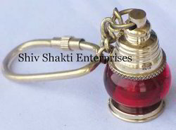 Brass Red Ship Lamp Key Chains