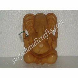 Wooden Ganesha With Sitting