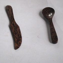 Wood Hand Made Knife & Spoon Set