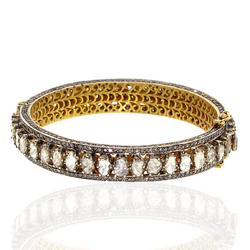 Rose Cut Diamond Bangles
