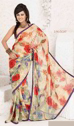 Floral Printed Saree