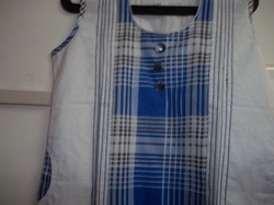 Ladies Kurta Cotton Checks Print With Pocket
