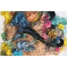 Multi Color Sari Silk Fiber