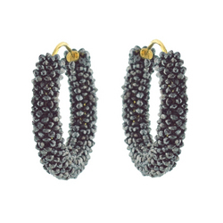 Diamond Beaded Earrings