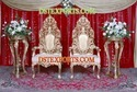 Muslim Wedding Heavy Carving Chairs