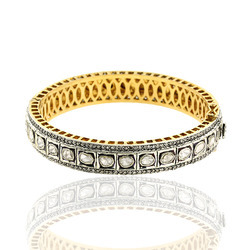 Rise cut diamond Bangle