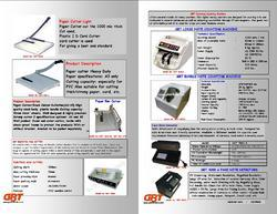 Paper Cutter And Note Counting Machine