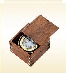 Gimbaled Ship Compass in Box