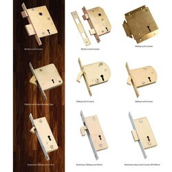 brass door sliding locks